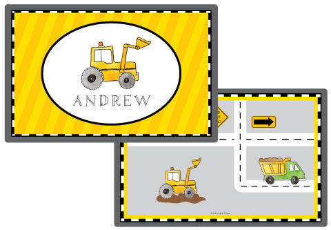 dig it personalized kids placemat