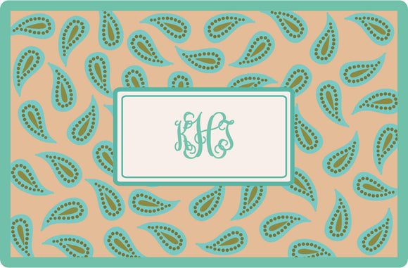 paisley personalized placemats
