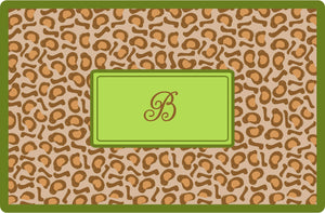 leopard personalized placemats