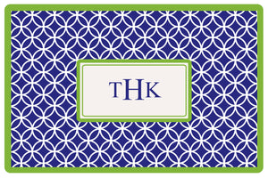 navy clover personalized placemats