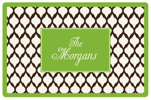 brown lattice personalized placemats
