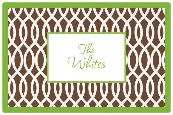 garden gate brown personalized placemats