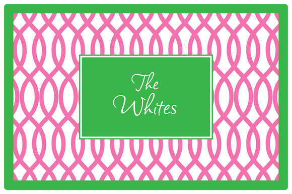 garden gate pink personalized placemats