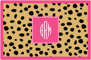 cheetah personalized placemats