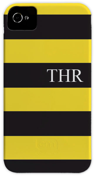 black & yellow stripe cell phone case