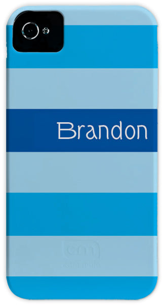 blue multi stripe cell phone case