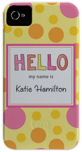 hello my name is cell phone case