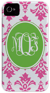 pink damask cell phone case