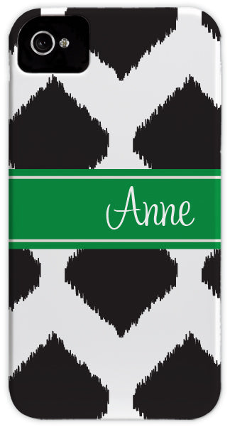 black ikat cell phone case