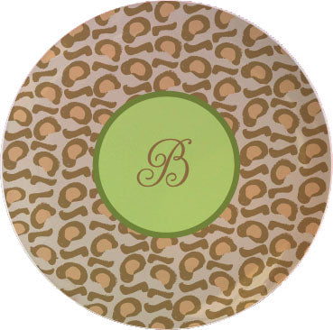 leopard personalized plate