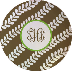 vines personalized plate