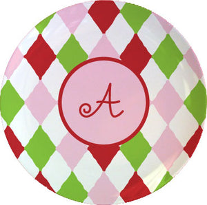harlequin personalized plate