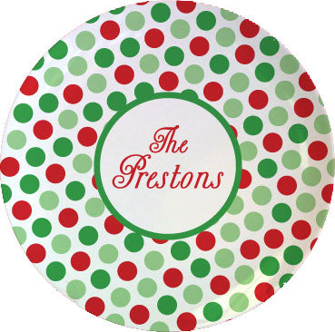 christmas personalized plate