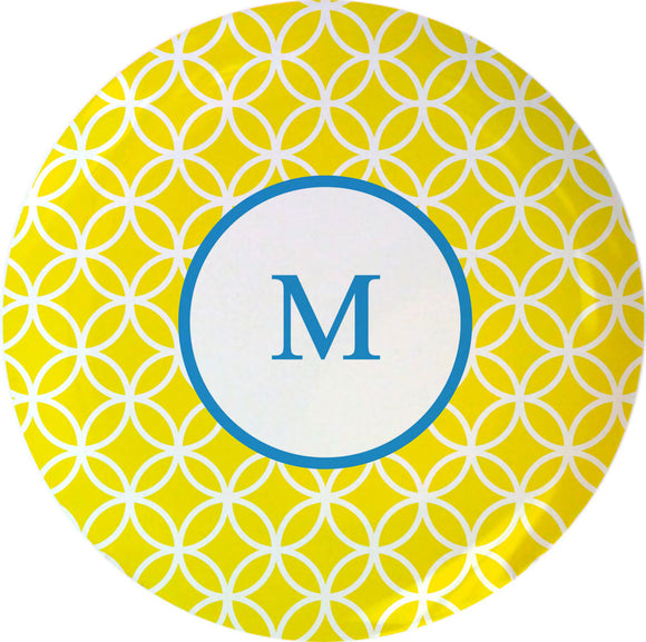 yellow clover personalized plate