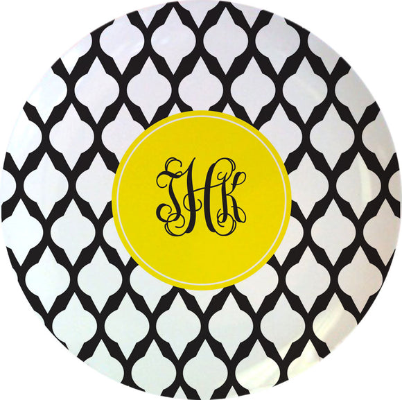 black lattice personalized plate