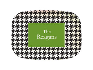 black houndstooth platter