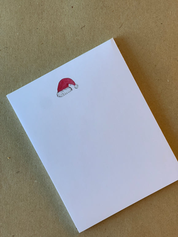 Holiday Notepad - Santa Hat