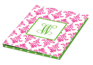 pink damask personalized tablet cover