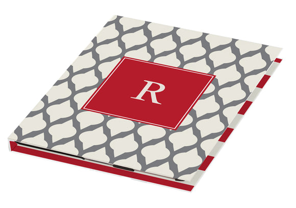 grey lattice personalized tablet cover