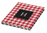 red houndstooth personalized tablet cover
