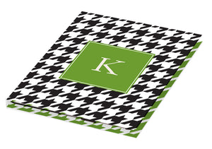black houndstooth personalized tablet cover