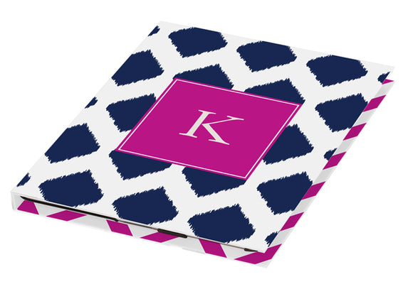 navy ikat personalized tablet cover