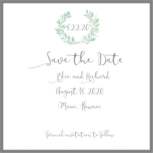 Save The Date Edie and Richard