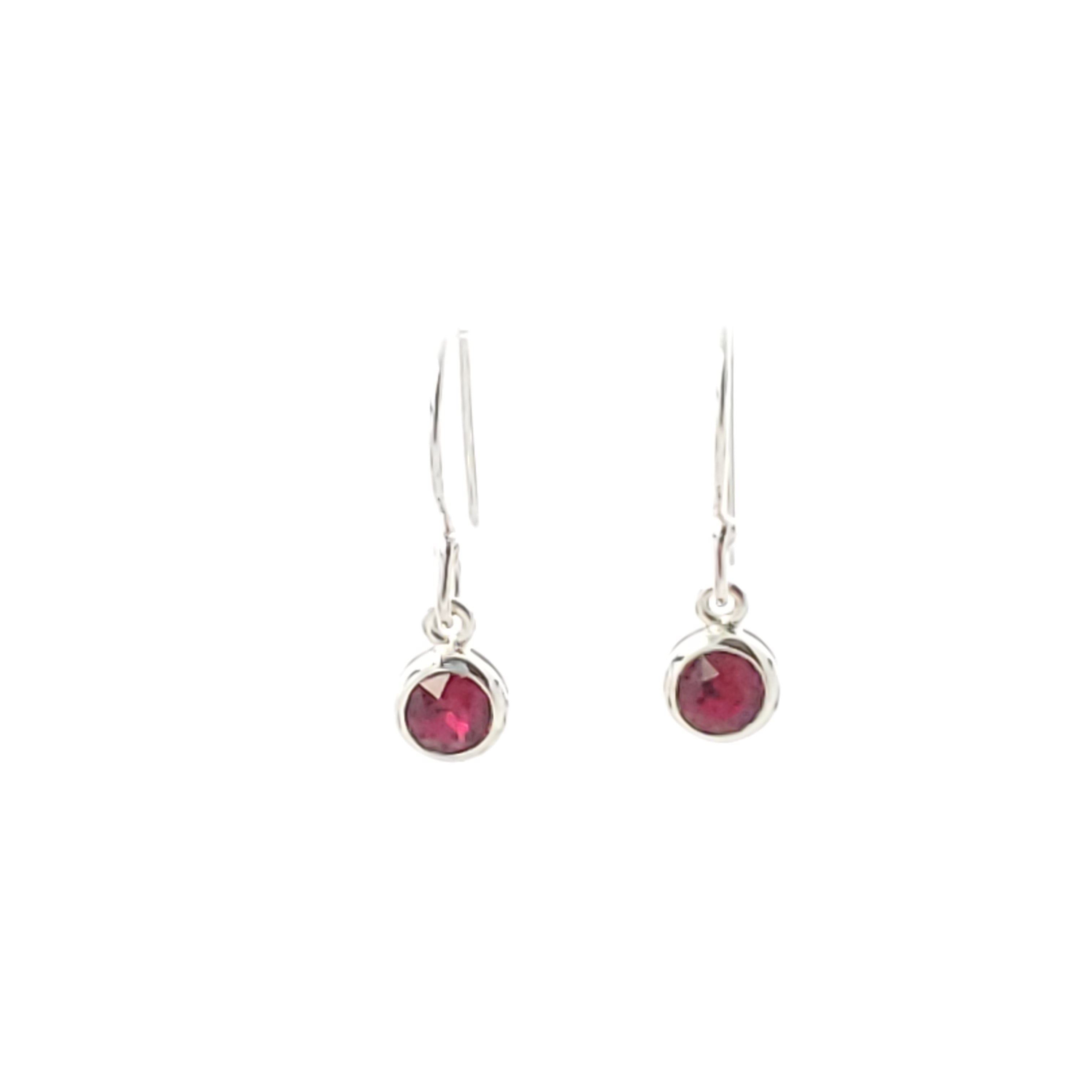 Swarovski crystal birthstone sterling silver earrings