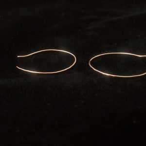 Gold-filled wire earrings