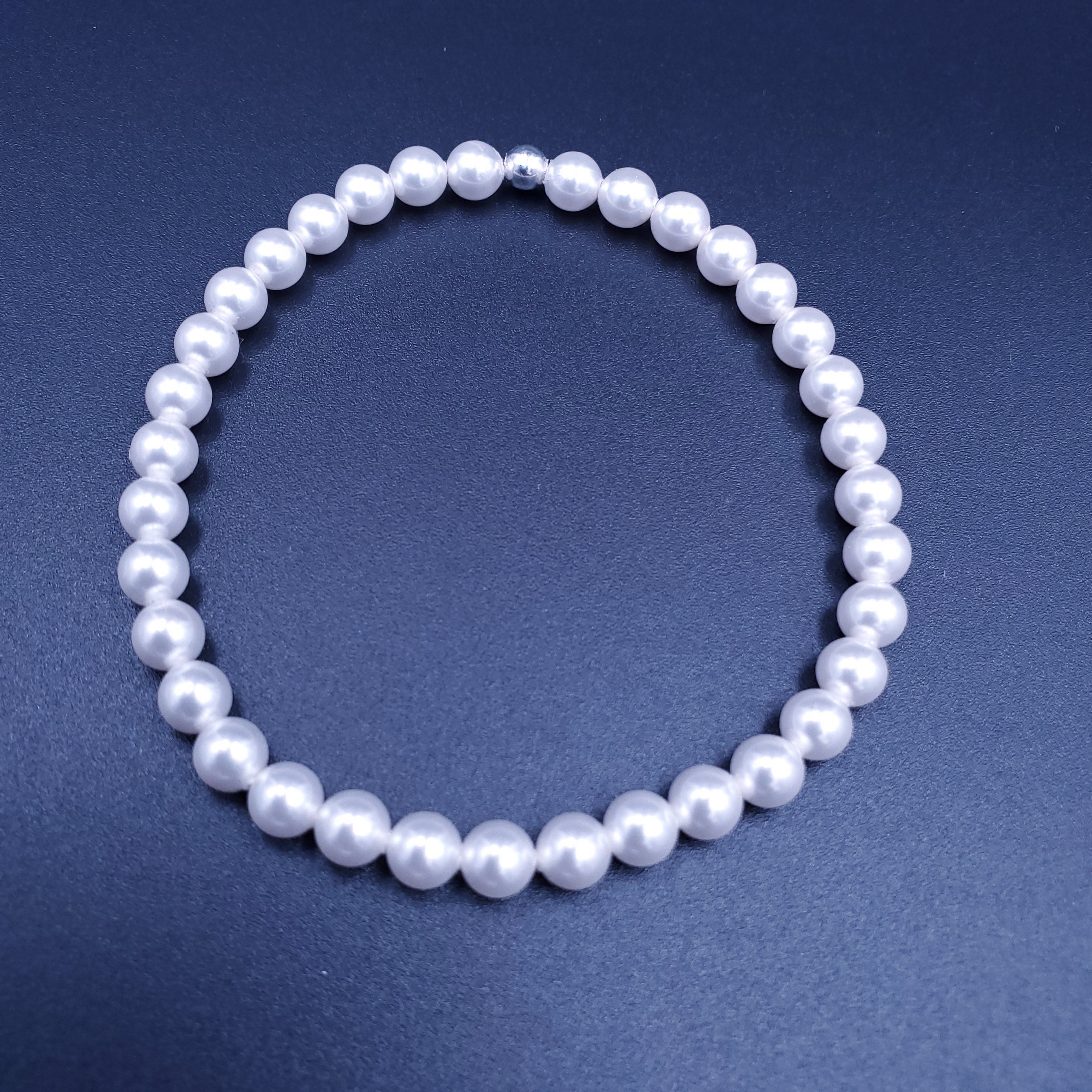 Simulate pearl stretch bracelet