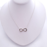 Sterling silver infinity symbol attached to cable chain necklace
