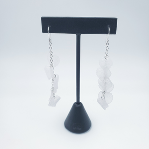 cascading leaves dangle earrings