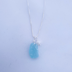 Aqua sea glass and fresh water pearl necklace