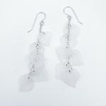 Long cascading leaves earrings
