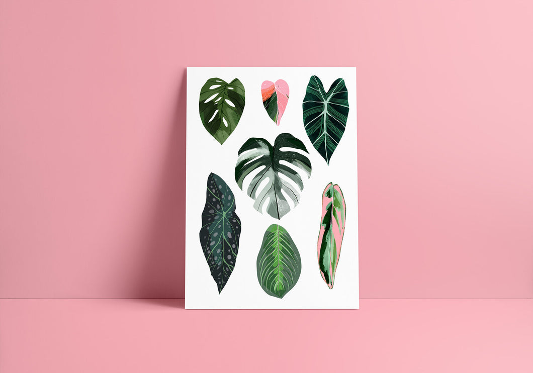A3 Leaves Giclee Print