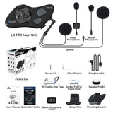 LX-FT4 Bluetooth 4 Way Conference Intercom System Dual Pack