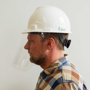 Clear Face Shield Extension for Hard Hats - V4.10, Case of 110