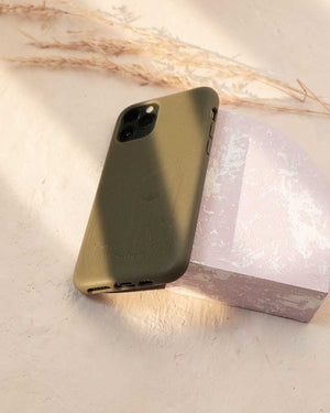 Eco Friendly iPhone 11 Pro Max Phone Case - Seagrass in Olive Green
