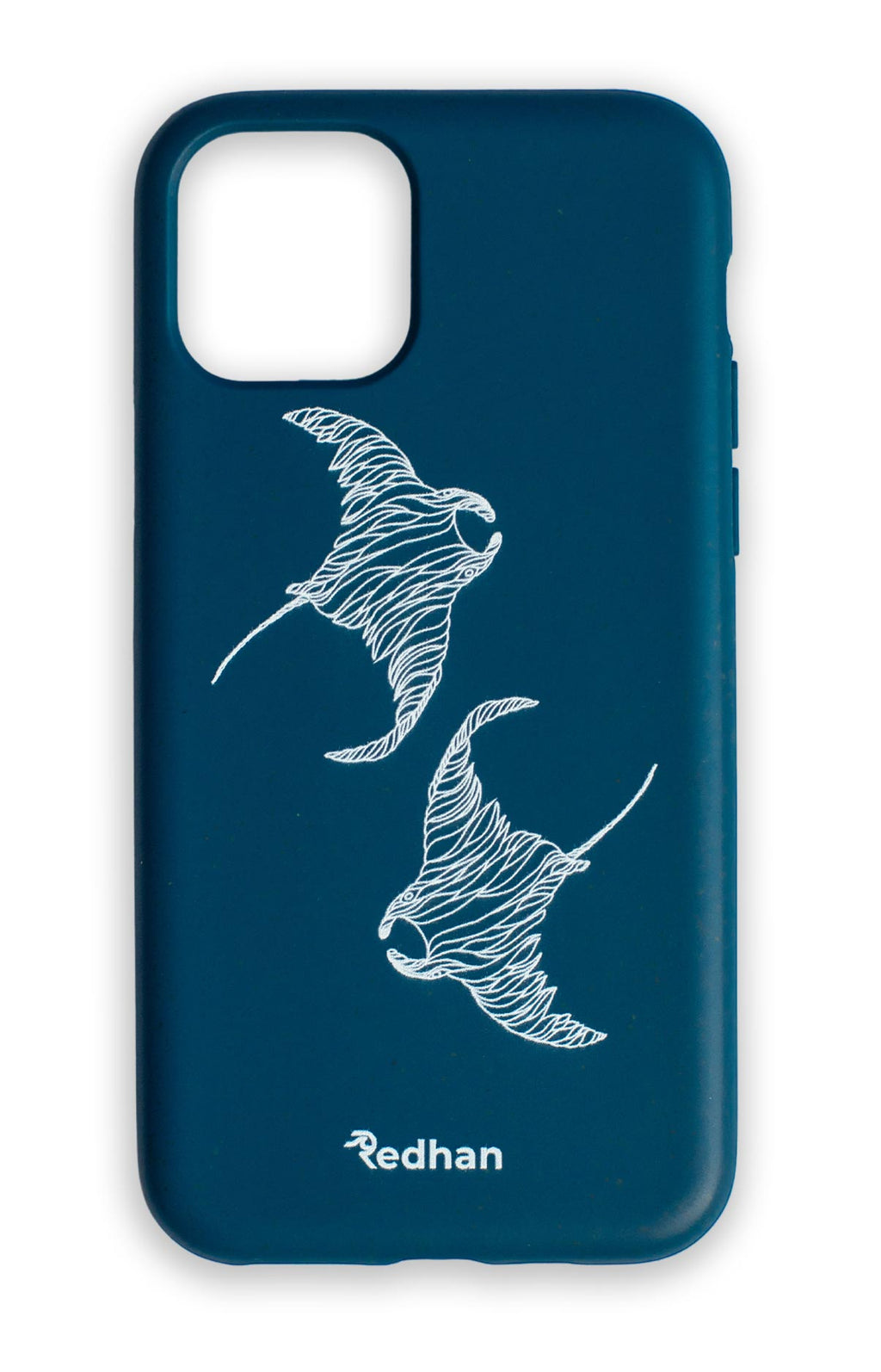 Eco Friendly iPhone 11 Phone Case - Flowing Rays in Navy Blue