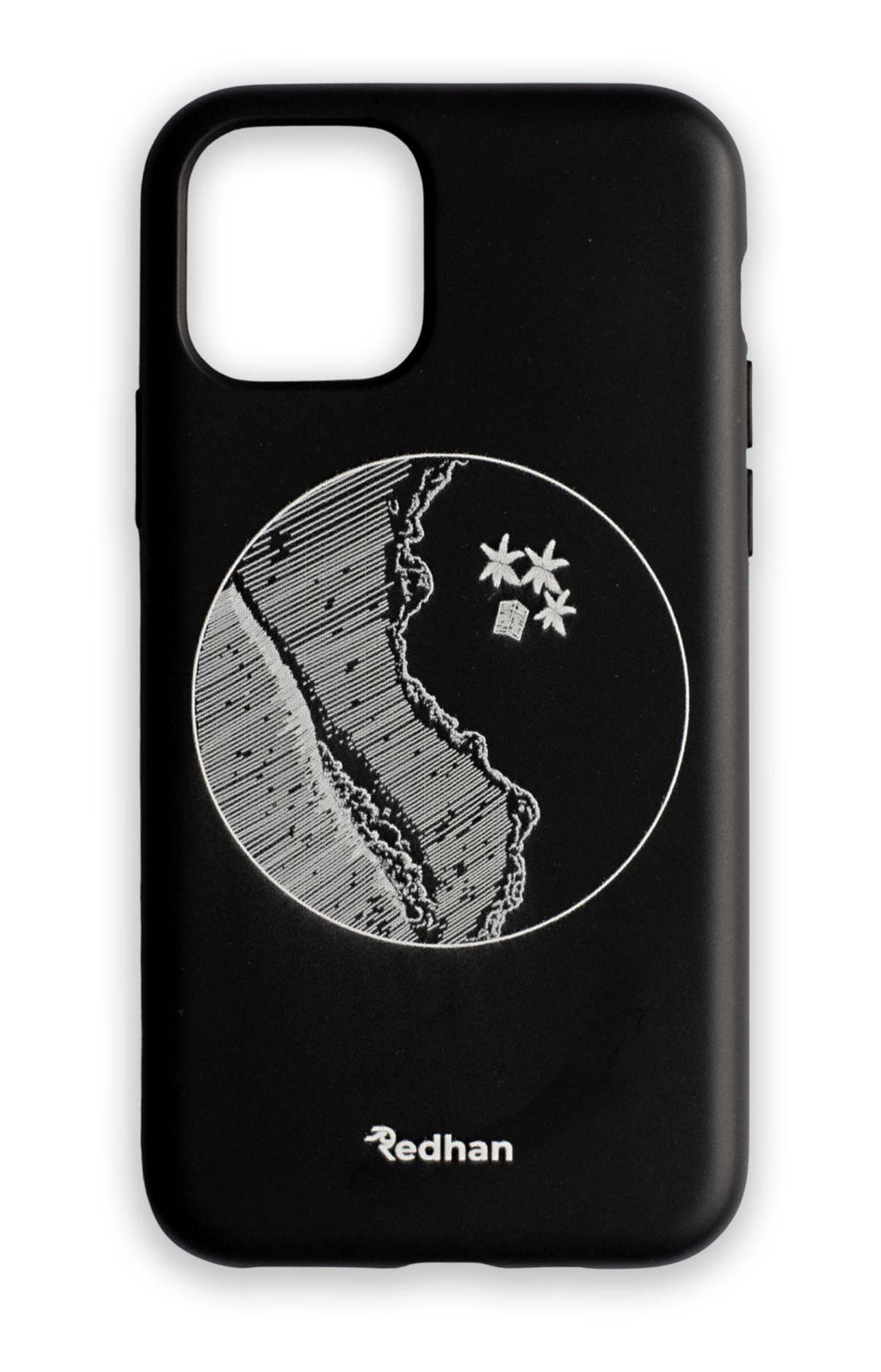 Eco Friendly iPhone 11 Phone Case - YinYang in Pitch Black
