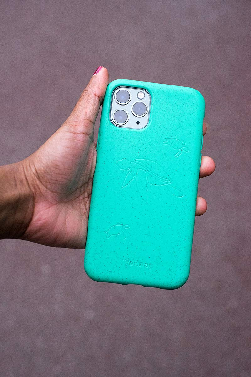 Eco Friendly iPhone 11 Phone Case - Turtle in Turquoise