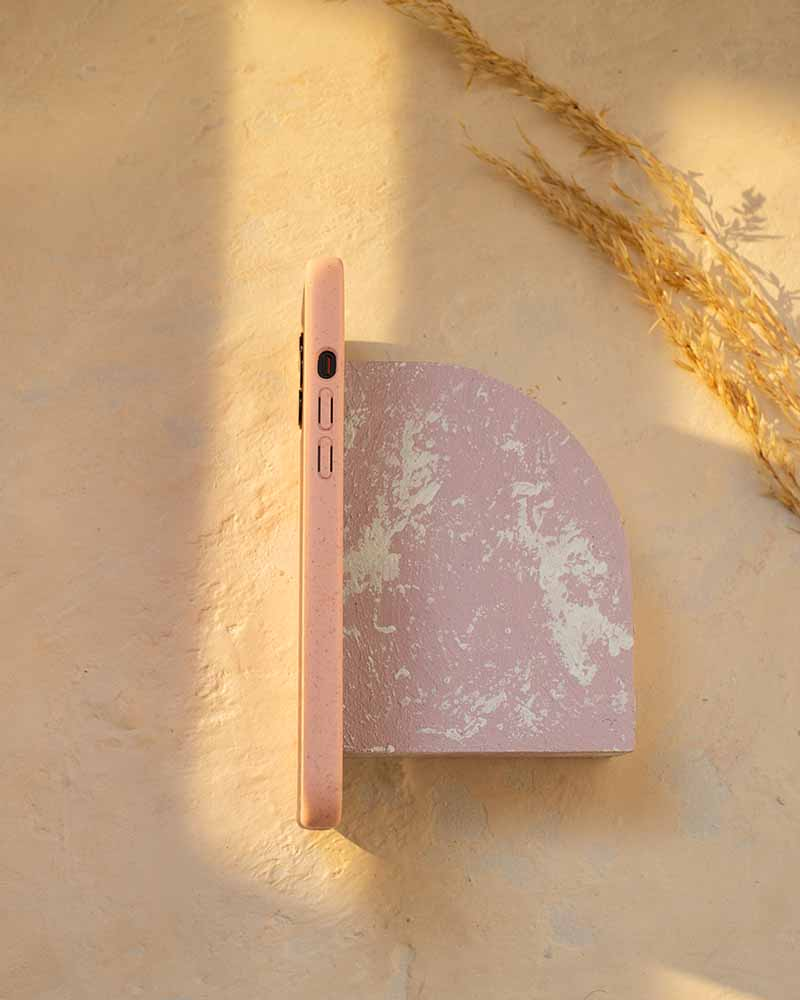 Eco Friendly iPhone 12 Pro Max Phone Case - Whale 2.0 in Blush Pink