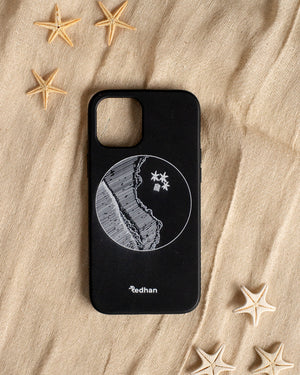 Eco Friendly iPhone 12 Mini Phone Case - YinYang in Pitch Black