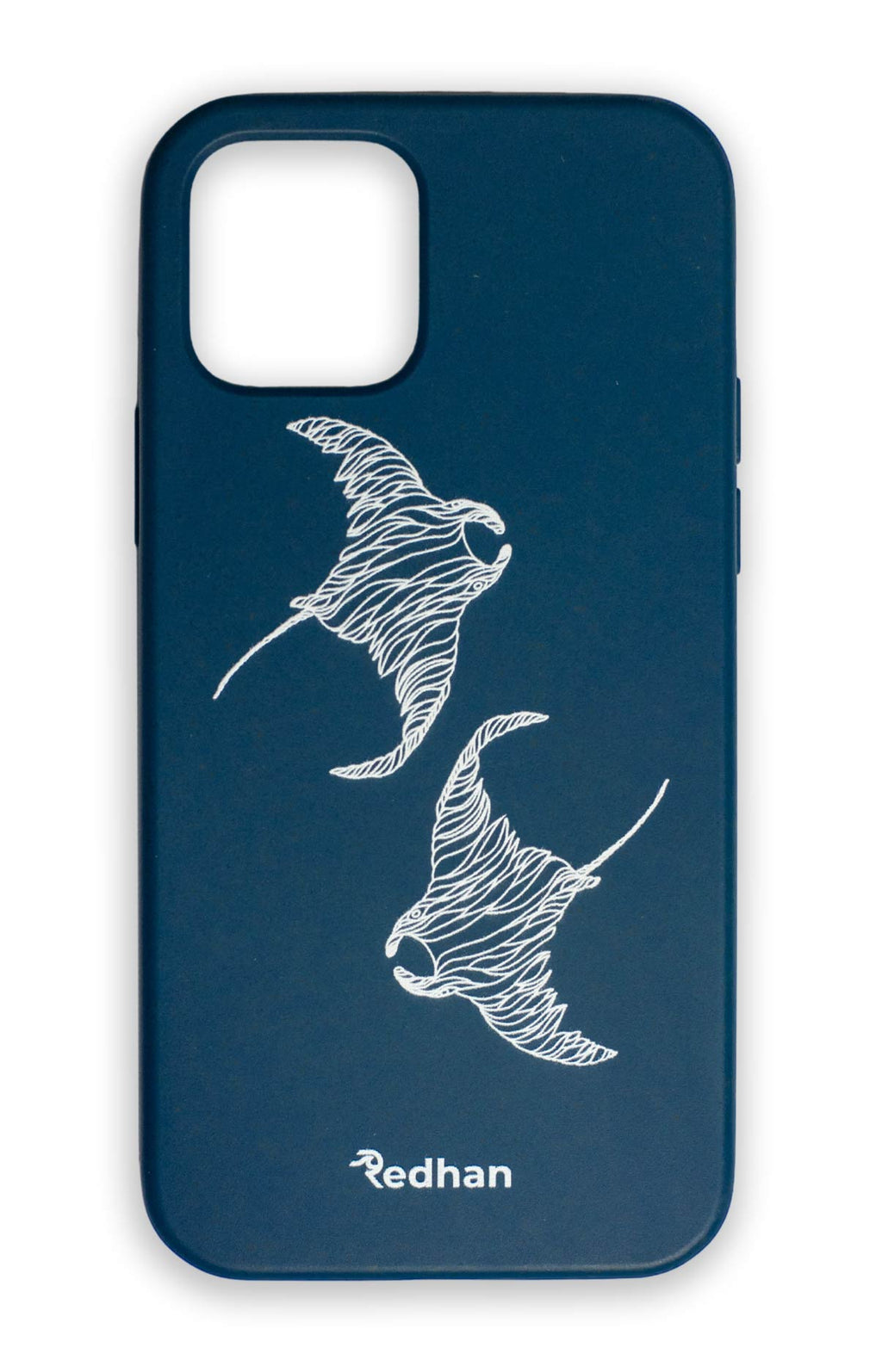 Eco Friendly iPhone 12 Mini Phone Case - Flowing Rays in Navy Blue