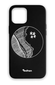 Eco Friendly iPhone 12 Pro Max Phone Case - YinYang in Pitch Black