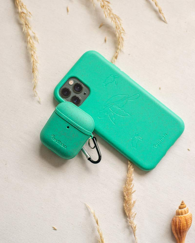 Eco-Friendly Airpod Case - Turquoise, Light Green, Biodegradable