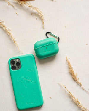 Eco-Friendly Airpod Pro Case - Turquoise, Light Green, Biodegradable