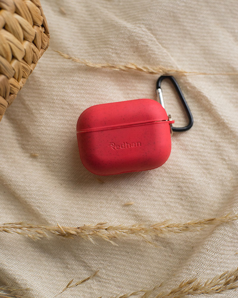 Eco-Friendly Airpod Pro Case - Red, Biodegradable