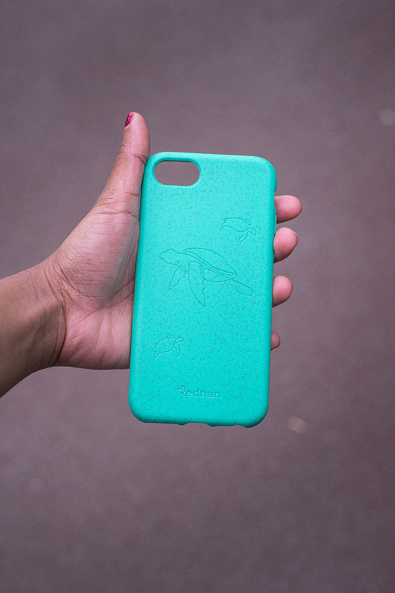 Eco Friendly iPhone 6+/6S+/7+/8+ Phone Case - Turtle in Turquoise