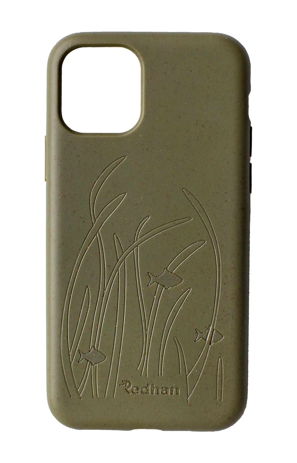 Eco Friendly iPhone 11 Phone Case - Seagrass in Olive Green